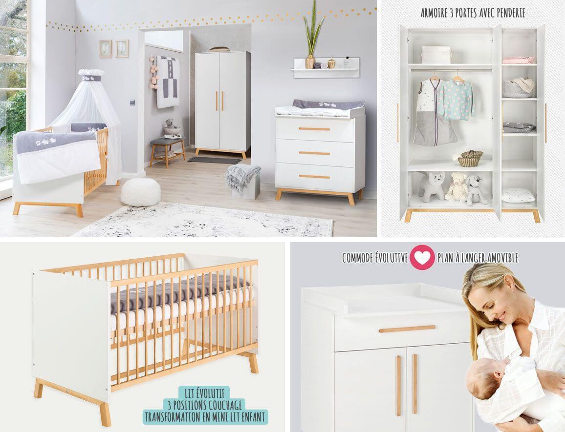 ᐅ Chambre bébé Mila • Mobilier bébé original et Design • Jurassien